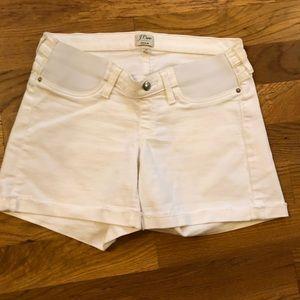 White JCrew Maternity Jean Shorts - NWOT